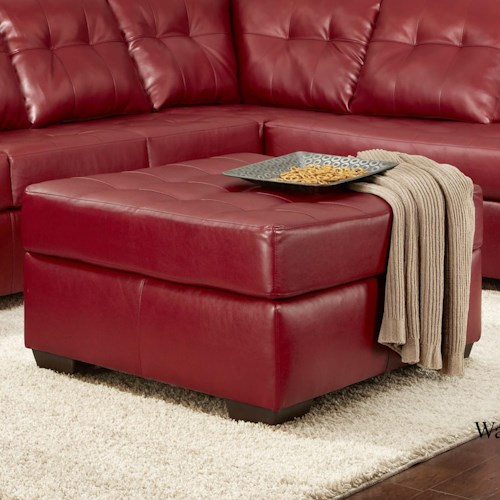 Washington Furniture 2400 Contemporary Tufted Cocktail Ottoman