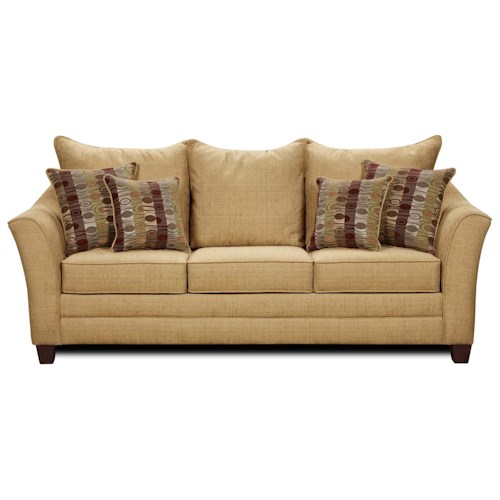 Washington Furniture 4010 Contemporary Stationary Sofa