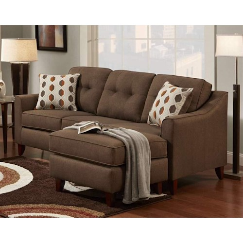 Washington Furniture 4740 Stoked Chocolate Sofa Chaise