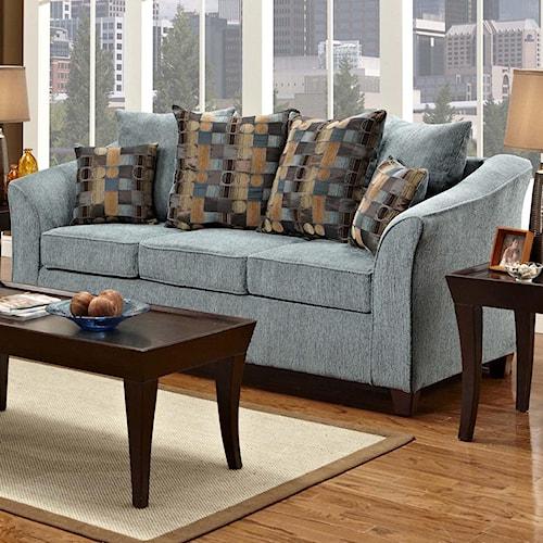 Washington Furniture 5000 Contemporary Stationary Sofa