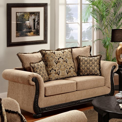 Washington Furniture 6000 Dream Java Loveseat