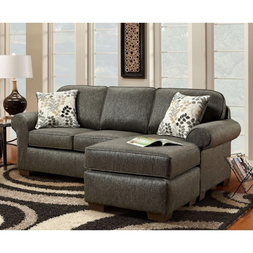 Washington Furniture 6040  Casual Rolled Arm Sofa with Chaise