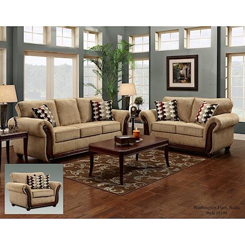 Washington Furniture 8100 Washington Stationary Living Room Group