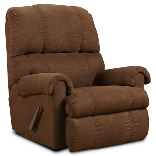 Washington Furniture 8700  Flat Suede Chocolate Recliner