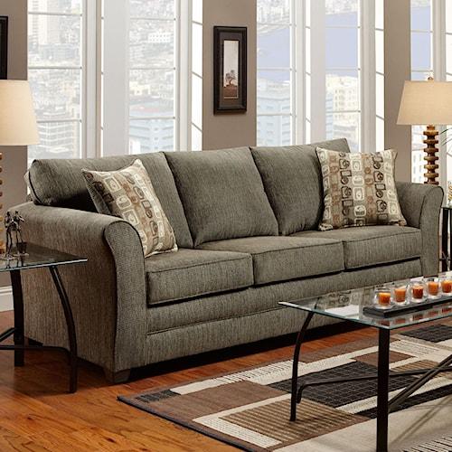 Washington Furniture 3250 Casual Sofa with Flared Track Arms