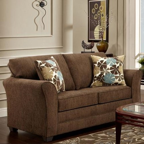 Washington Furniture Council Fudge Casual Loveseat with Flared Track Arms