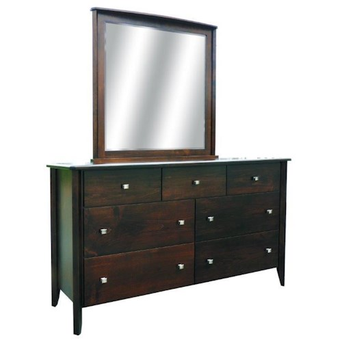 Wayside Custom Furniture Casual Custom Made Dresser and Mirror