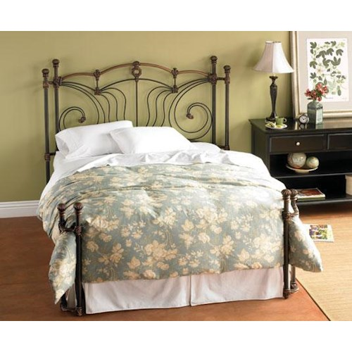 Morris Home Furnishings Iron Beds King Chelsea Iron Headboard and Open Footboard Bed with Return Posts