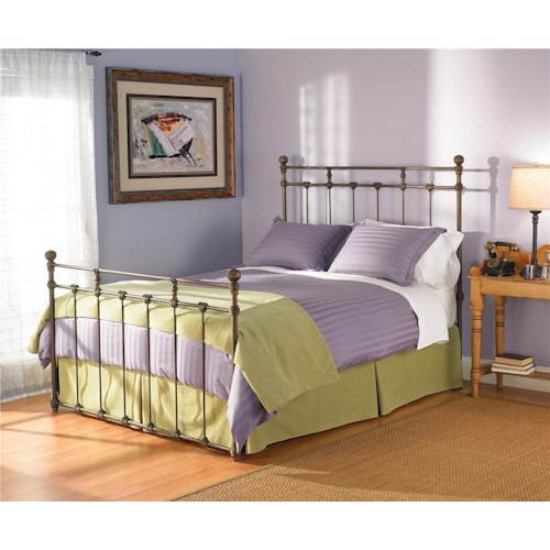 Morris Home Furnishings Iron Beds Queen Sena Iron Poster Bed