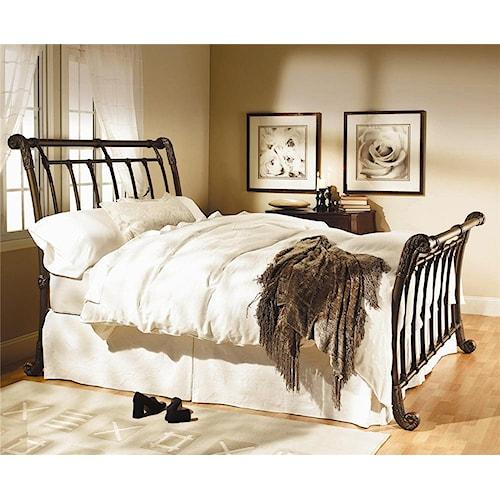 Morris Home Furnishings Iron Beds Brookshire Iron Sleigh Bed