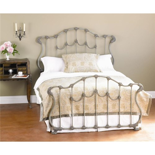 Morris Home Furnishings Iron Beds Queen Complete Hamilton Headboard and Footboard Bed