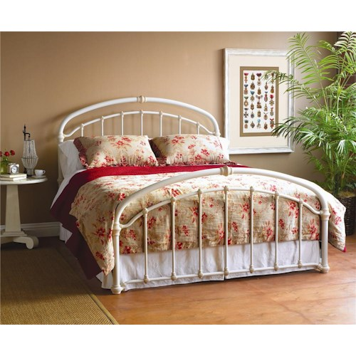 Morris Home Furnishings Iron Beds King Birmingham Complete Iron Bed