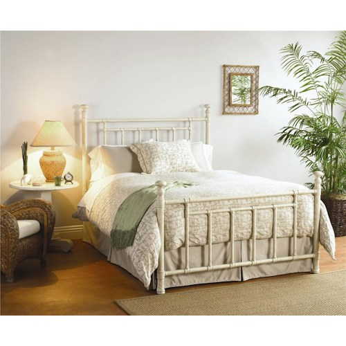Morris Home Furnishings Iron Beds Twin Blake Iron Poster Bed