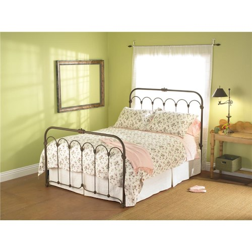 Wesley Allen Iron Beds Queen Hillsboro Iron Headboard and Footboard Bed