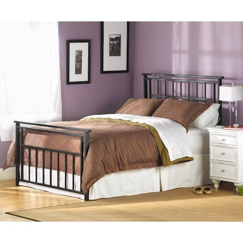 Morris Home Furnishings Iron Beds Full Complete Aspen Headboard and Footboard Bed