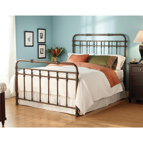 Morris Home Furnishings Iron Beds Queen Complete Laredo Headboard and Footboard Bed