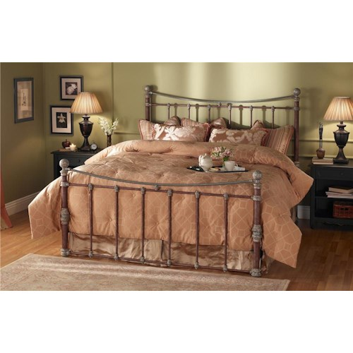 Morris Home Furnishings Quati King Headboard and Footboard Iron Bed