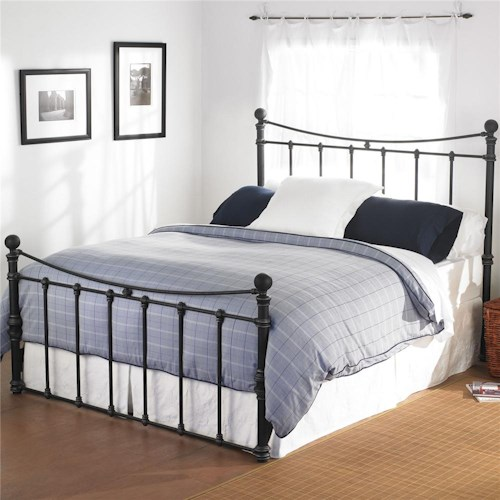 Wesley Allen Quati  Queen Headboard and Footboard Iron Bed