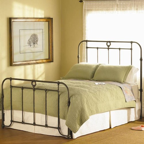 Wesley Allen Wellington  Iron Headboard and Footboard Bed