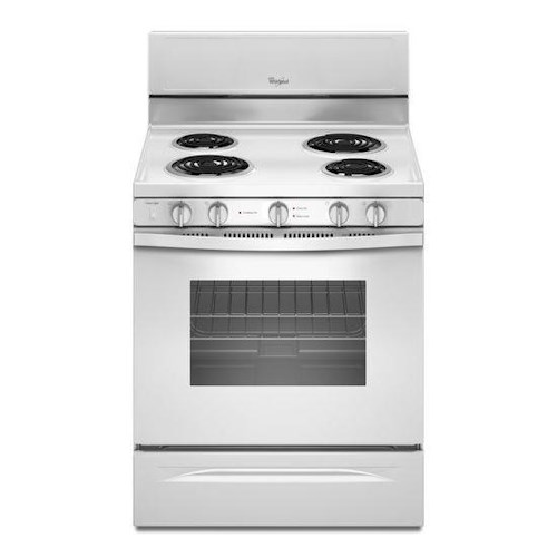 Whirlpool Electric Ranges 4.8 Cu. Ft. Freestanding Electric Range with High-Heat Self-Cleaning System