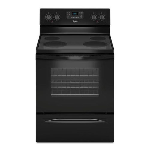 Whirlpool Electric Ranges 5.3 Cu. Ft. Freestanding Electric Range with Easy Wipe Ceramic Glass Cooktop