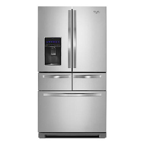Whirlpool French Door Refrigerators 26 Cu. Ft. Double Drawer French Door Refrigerator with Dual Icemakers