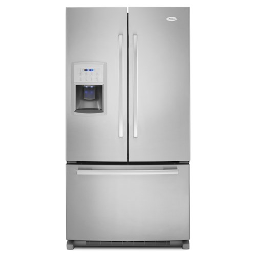 Whirlpool French Door Refrigerators ENERGY STAR® 20 Cu. Ft. French Door Refrigerator with Filtered Ice and Water Dispenser