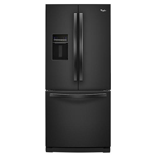 Whirlpool French Door Refrigerators 19.6 Cu. Ft. French-Door Refrigerator with Exterior Dispenser