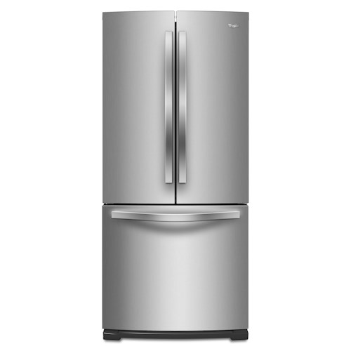 Whirlpool French Door Refrigerators ENERGY STAR® 19.6 Cu. Ft. French-Door Refrigerator with Ice Maker