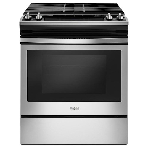 Whirlpool Gas Ranges 5.0 cu. ft. Front Control Gas Range with cast-iron grates