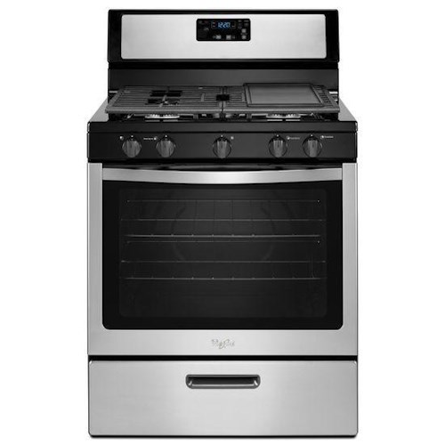 Whirlpool Gas Ranges 5.1 cu. ft. Freestanding Gas Range with Five Burners