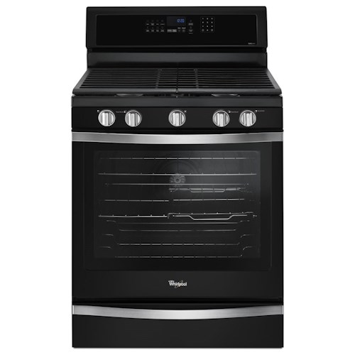 Whirlpool Gas Ranges 5.8 Cu. Ft. Freestanding Gas Range with Center Oval Burner