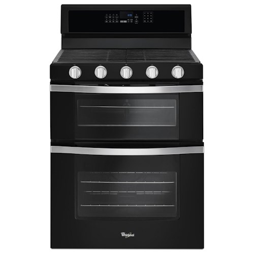 Whirlpool Gas Ranges 6.0 Cu. Ft. Gas Double Oven Range with Center Oval Burner
