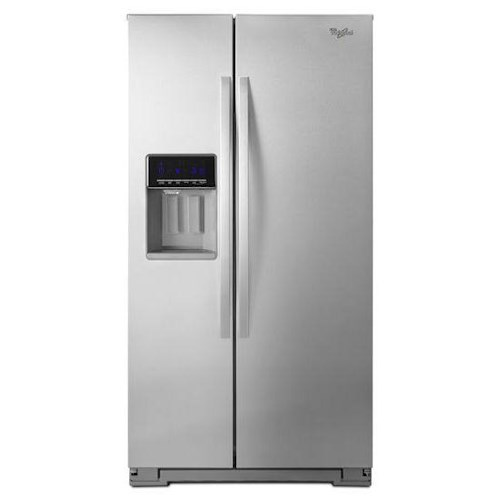 Whirlpool 21 Cu Ft Counter Depth Side By Side Refrigerator With In Door Ice Plus System