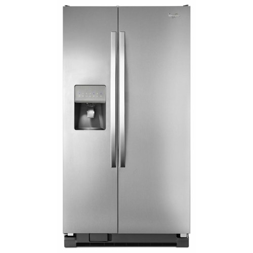 Whirlpool Side-By-Side Refrigerators ENERGY STAR® 25.4 Cu. Ft. Side-by-Side Refrigerator with Greater Capacity
