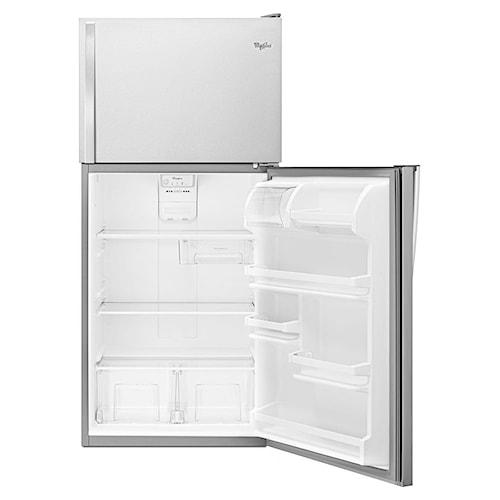 Whirlpool Top Mount Refrigerators 18 Cu. Ft. Top-Freezer Refrigerator with Flexi-Slide™ Bin