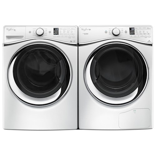 Whirlpool Washer and Dryer Sets 4.5 Cu. Ft. Duet® Steam Front Load Washer and 7.3 Cu. Ft. HybridCare™ Ventless Duet® Dryer