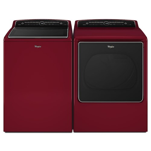 Whirlpool Washer and Dryer Sets - Whirlpool Energy Star® 5.3 cu. ft. Top Load Washer and Energy Star® 8.8 cu. ft. Electric Steam Dryer