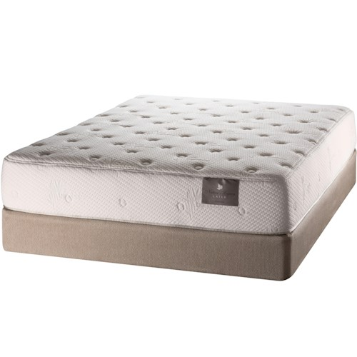White Dove Mattress Natures Legacy Mattress Quietude Queen Firm Mattress and Foundation