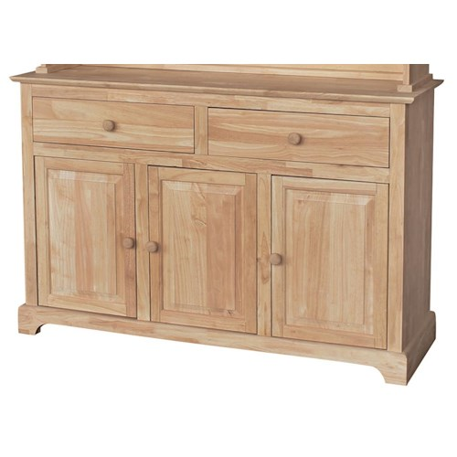 Whitewood Dining Room Pieces 3 Door and 2 Drawer Buffet