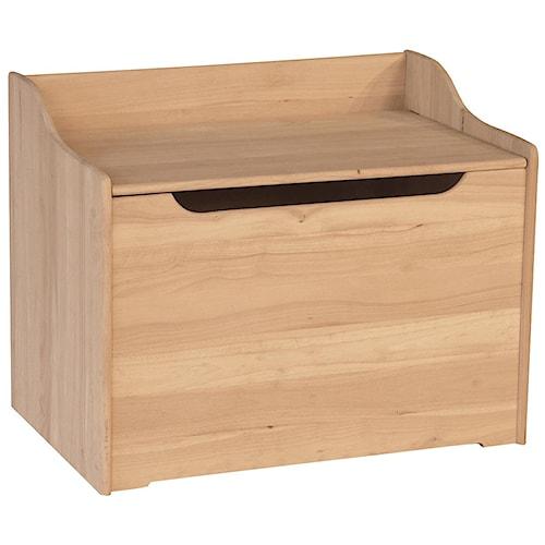 Whitewood Juvenile Kid's Storage Bench/Chest