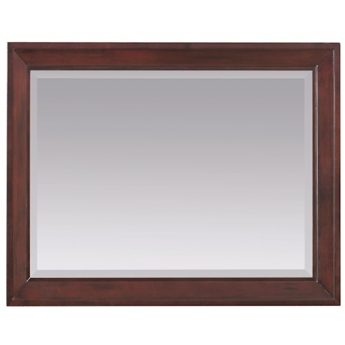 Whittier Wood Cascade  Beveled Landscape Mirror with Wood Frame