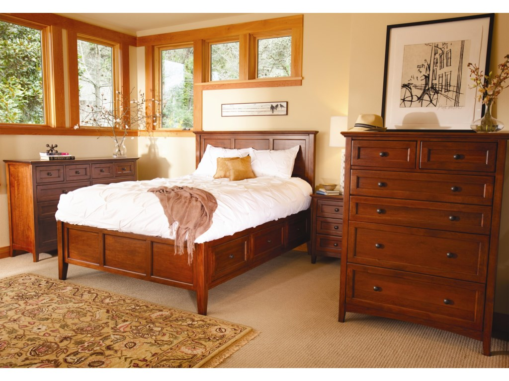 Shown with Dresser, and Platform Bed