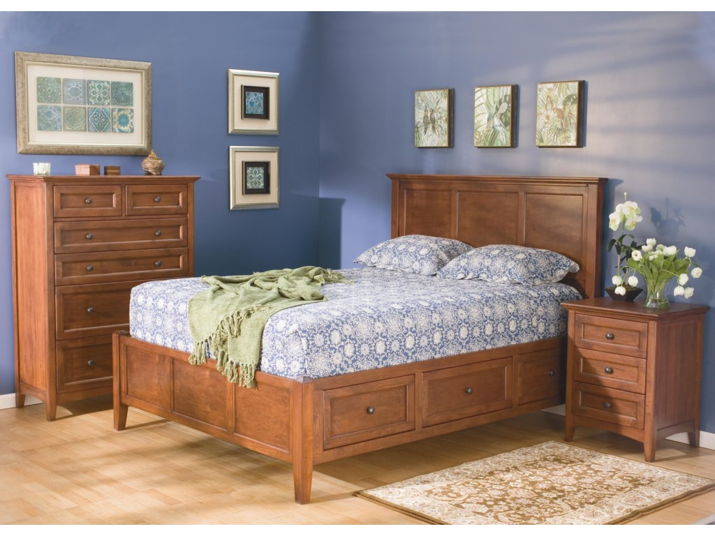 Shown with Platform Bed and Nightstand