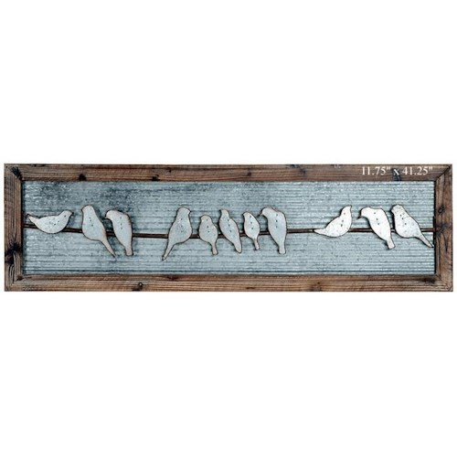 Will's Company Accents Framed Birds on Wire Wall Art - 11.75