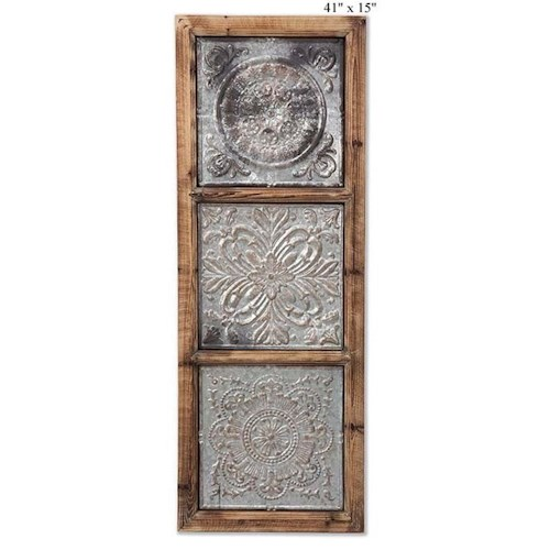 Will's Company Accents Pressed Tin Wall Art - 41