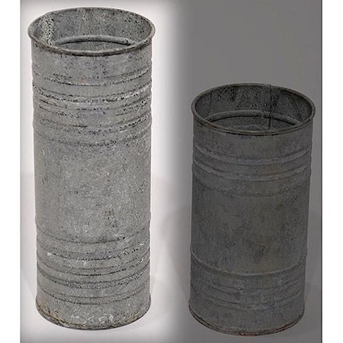 Will's Company Accents Zinc Pillar Hldr/Vase 8