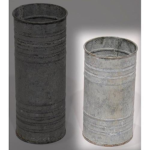 Will's Company Accents Zinc Pillar Hldr/Vase 6