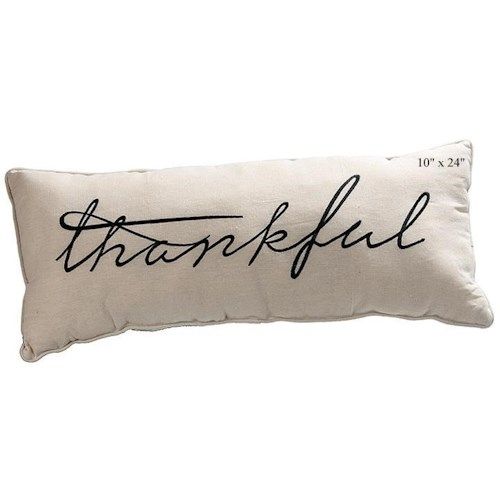 Will's Company Accents Thankful Pillow - 10