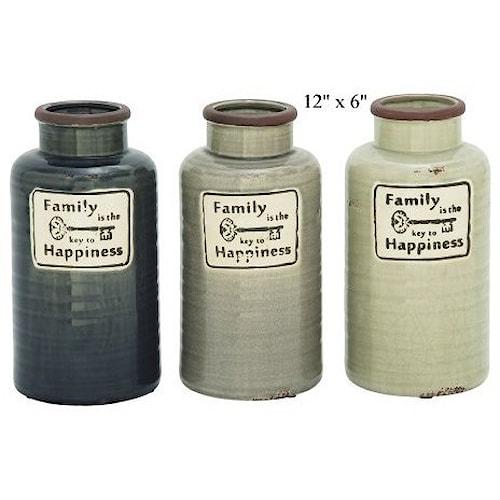 Will's Company Accents Family Jar/Vase - 12
